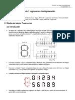 P04 Control de Display de 7 Segmentos - Multiplexación
