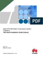 RTN 950 V100R010 IDU Quick Installation Guide(Indoor) 01