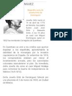 Biografia de Josefa