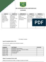 Programación Aniversario Escuela Monteleón 2019