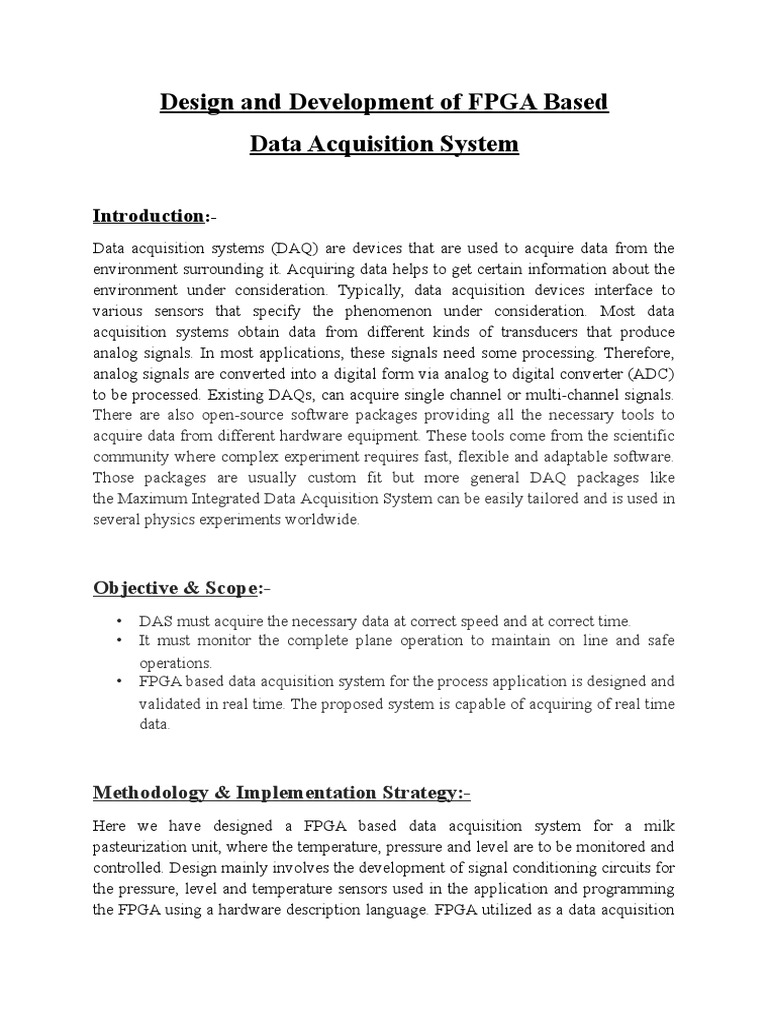 Data Acquisition System 1 Data Acquisition Analog To Digital Converter