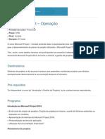 CP Microsoft Project Operação