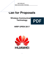 2017 HIRP OPEN Projects - Wireless Communication Technology
