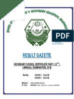 Result Gazette SSC Part-I, 9th Annual Examination, 2018, B.I.S.E, Bahawalpur.pdf