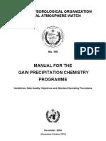 GAW-PrecipChemManualNo160 Ammended15Oct2015 Copy