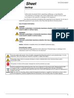 SIGMA SD900 AC Power Battery Backup Instruction Sheet