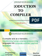 Module 1 - Introduction to Compiler