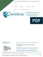 Investigado, Procesado y Encausado. Diferencias Significativas. - Derecho Procesal _ El Juridista