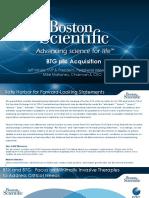 Boston Scientific / BTG  Acquisition Presentation