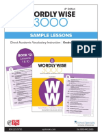 Wordly Wise 3000 4th Edition Book 12 Sample lessons