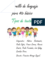 Cuadernillo de Actividades Para Cuarto Año Basico. Didactica de La Lecto Escritura