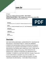 Supremo Tribunal Federal Stf - Recurso Extraordinário _ Re 0053833-92.2012.8.16.0000 Pr - Paraná 0053833-92.2012.8.16.0000