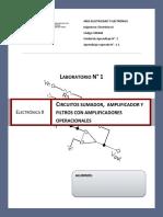 Guía N°1 Electrónica II