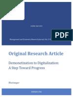1762 Demonetization to Digitalization a Step Toward Progress
