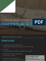 Roman épistolaire du XVIIIe siècle