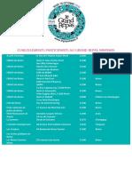 La liste des restaurants partenaires dans la Marne.
