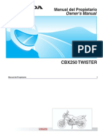 Cbx250 Twister (d2203-Man-0515) Pro