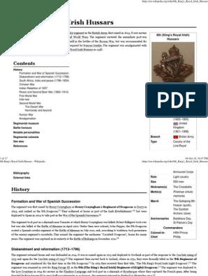 8th King's Royal Irish Hussars | Military Units And