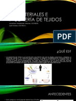 Biomateriales e Ingeniería de Tejidos
