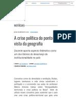 A Crise Política Do Ponto de Vista Da Geografia _ Unicamp