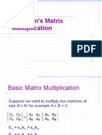 Strassens Matrix Multiplication Ppt