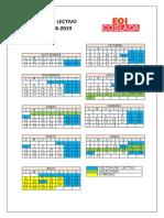 Calendario Escolar 2018-19 Madrid