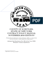 Schuyler County, New York, Contract Policy Manual, November 2018