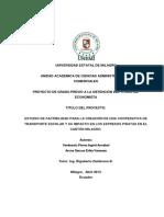 Estudio de Factibilidad Para La Creación de Una Cooperativa de Transporte Escolar y Su Impacto en Los Expresos Piratas en El Cantón Milagro.
