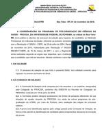 EDITAL n 0020 2019 - Processo Seletivo Procisa
