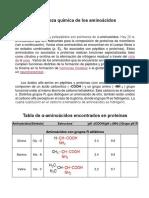 Naturaleza Química de Los Aminoácidos PARTE 1