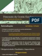 Dimensão Da Gestão Escolar - Gestão Administrativo Financeira - GERAL
