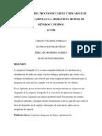 Optimización Del Proceso de Cargue y Descargue de La Empres Campollo S.a. Mediante El Sistema de Métodos y Tiempos