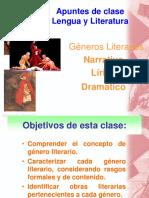 Ppt Guía Reforzamiento Géneros Literarios