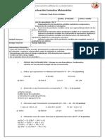 Evaluacion Sumativa Factorizacioin Primero Medio 2018 B