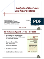 Vibration Analysis of Steel Joist Concrete Floor Systems