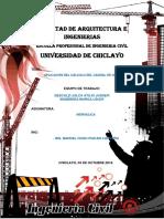 TRABAJO DE HIDRAULICA