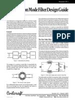 [] Common Mode Filters Design Guide{2007}[Coilcraft]