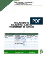 4 REG Reglamento de Aislamiento Bloqueo y Verificación de Energías