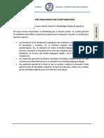Orientaciones Para Redactar La Metodología y La Evaluación en El Plan de Asignatura