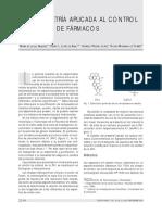 Quimiometria UV_visible en Control de Farmacos