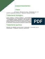 Tipos y Proceso de Tratamiento
