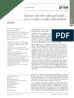 Grant L et al 2018 Integratign palliative care into national health systems in Africa