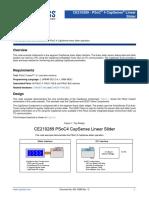 002-10289 CE210289 PSoC 4 CapSense Linear Slider