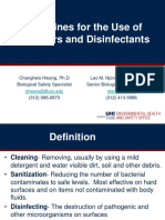 Sanitizers and Disinfectants