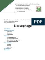 Anatomie de l'Œsophage (1)