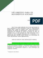 Melucci - Um Objetivo Para Os Movimentos Sociais
