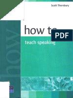 Thornbury, Scott How to Teach Speaking
