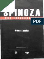 Tatian, Diego - Spinoza. Una introduccion.pdf