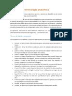 TAREA DE ANATOMIA #2 TERMINOLOGIA,POSICIONES,CORTESANATOMICOS,PLANOS,CAVIDADES.docx