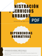 Exposición de Administración Publica y Servicios Urbanos